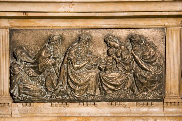 The Adoration of the Magi    detail from    Tomb of William Ewart Gladstone and Catherine Gladstone