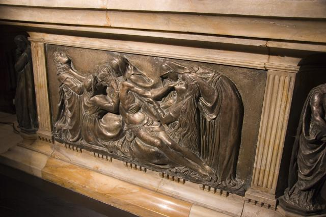 The Mourning over the Dead Christ    detail from    Tomb of William Ewart Gladstone and Catherine Gladstone