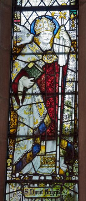 St David    detail from    St Peter and St John with St David and St Deiniol