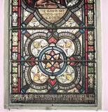 Decorative Panel and Dedication: Christ Raising the Daughter of Jairus