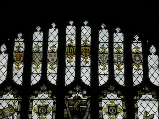 Tracery Lights    detail from    The Crucifixion with the Virgin Mary, St John and Saints