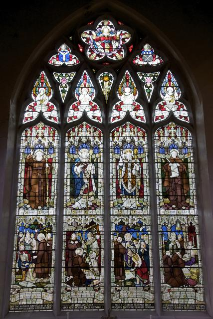 Welsh Saints with Scenes from the Life of St Elfan