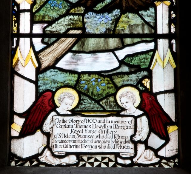 Angels with Dedication    detail from    The Annunciation