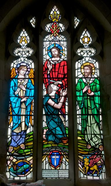Christ Restores Sight to a Blind Man with St Raphael and St Luke