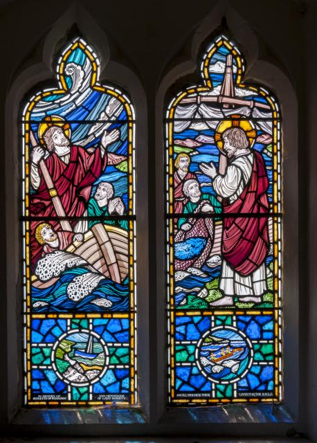 Christ Stilling the Storm and the Miraculous Draught of Fishes