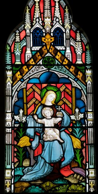 Virgin and Child    detail from    Virgin and Child with the Burial of Sarah