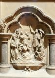 St John the Baptist Preaching: Pulpit with Scenes from the Bible