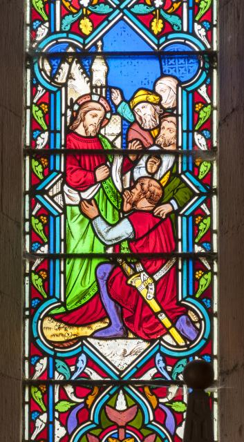 Christ Meeting the Centurion of Capernaum    detail from    Scenes from the New Testament