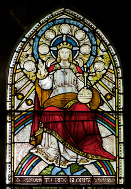 Christ in Majesty    detail from    Te Deum