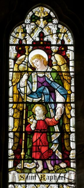St Raphael and Tobias    detail from    Archangels