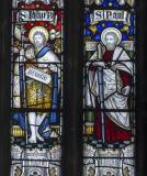 St John the Baptist and St Paul: Christ in Majesty with Saints and Prophets