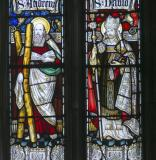 St Andrew and St David: Christ in Majesty with Saints and Prophets