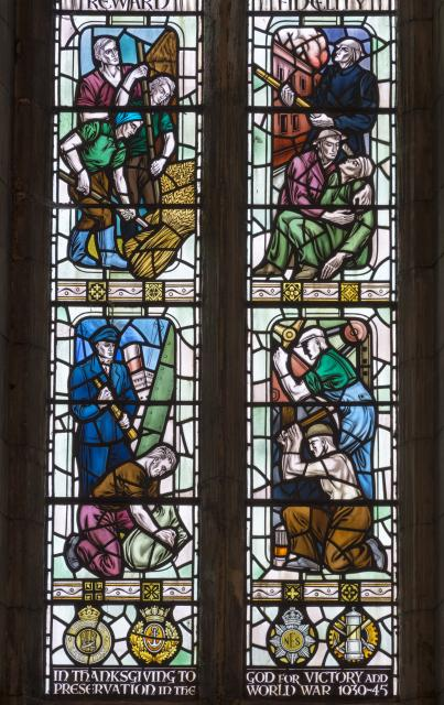 Scenes of the War Effort    from    Christ in Glory with Virtues