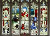 The Supper at Emmaus with St David and St Asaph