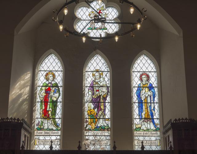 Christ with Children, St John and St Luke