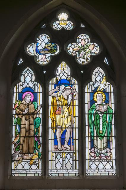 Christ the Good Shepherd with St Francis and St David