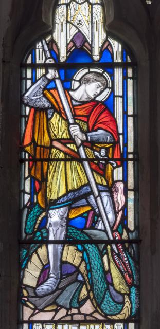 St George    detail from    St George and St Martin