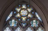 Tracery Lights: Christ with His Mother and Brothers and the Coming of the Holy Spirit