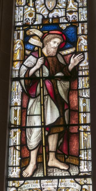 St John the Baptist    detail from    Christ the Good Shepherd with St John the Baptist and St John the Evangelist