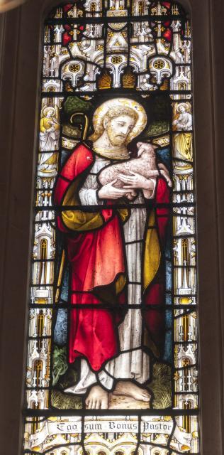 Christ the Good Shepherd    detail from    Christ the Good Shepherd with St John the Baptist and St John the Evangelist