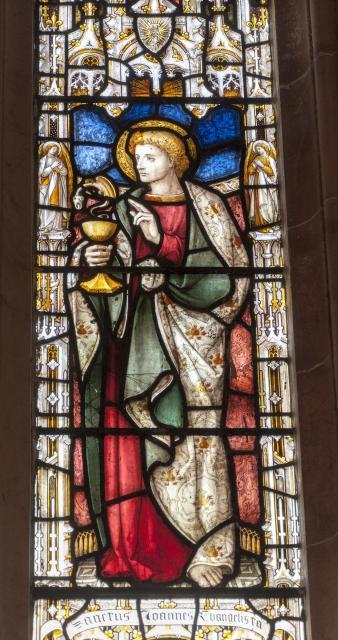 St John the Evangelist    detail from    Christ the Good Shepherd with St John the Baptist and St John the Evangelist