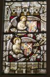 Angels with Heraldry: Christ the Good Shepherd with St John the Baptist and St John the Evangelist