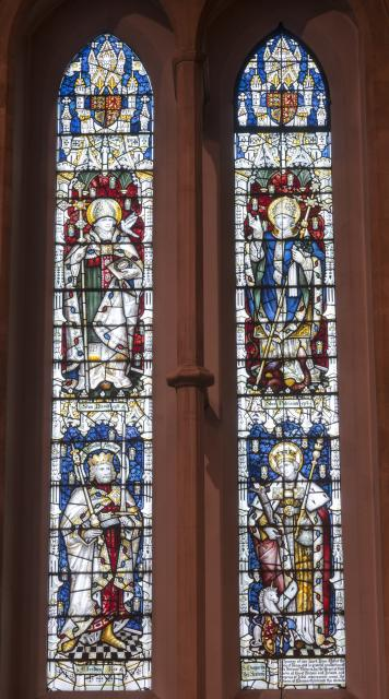 St David, St Patrick, Alfred the Great and St Margaret of Scotland