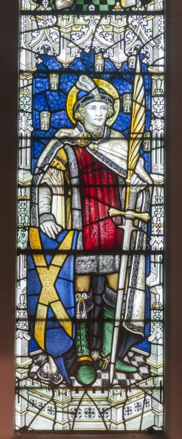 St Alban    detail from    David, Joshua, St Alban and St Oswald