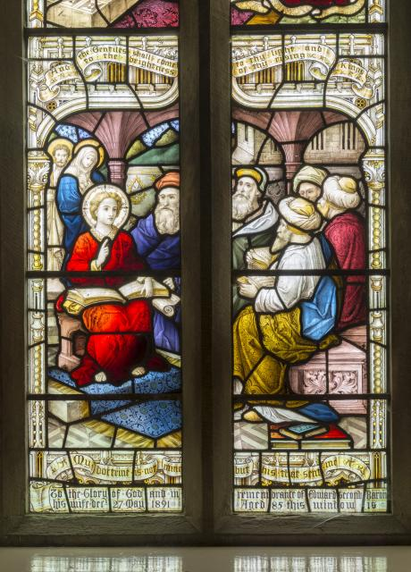 Christ Among the Doctors of the Law    detail from    Scenes from the Youth of Christ