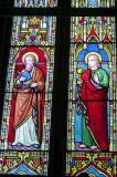 St Luke and St John: St Peter with the Four Evangelists