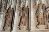St Bridget, St Bodfan and St David: The Crucifixion with Saints
