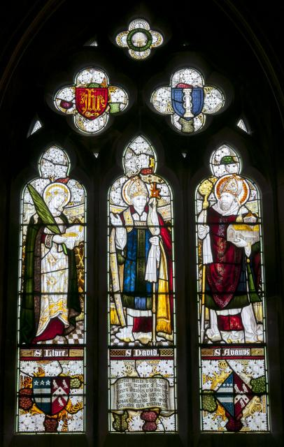 St Llyr, St David and St Afan    from    Figures from the Bible and Saints
