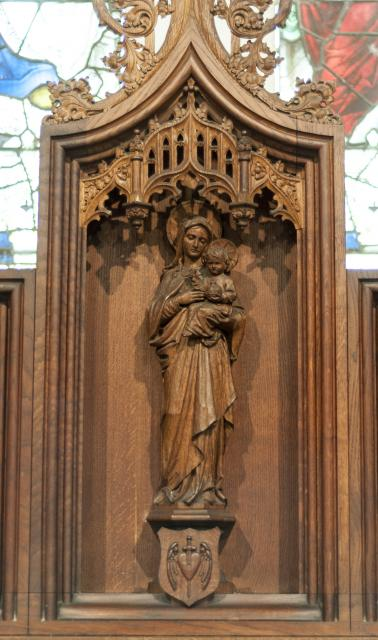 Virgin & Child    detail from    Scenes from the Life of the Virgin Mary