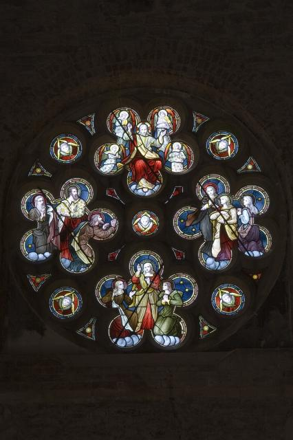 Christ in Majesty Surrounded by Angels and Figures