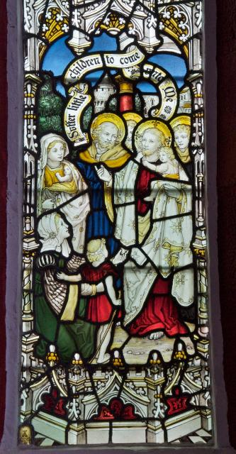 Christ Blessing Children Brought by their Mothers    detail from    St Matthew