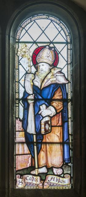 St Cadog    detail from    Saints