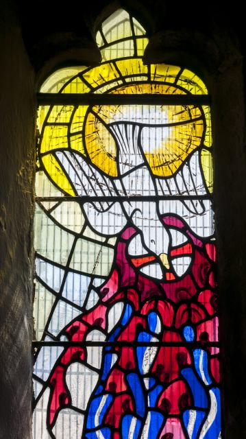 Descending Dove    detail from    Baptistry Window
