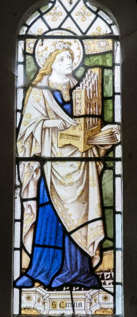 St Cecilia    detail from    St Cecilia and St Eunice Teaching St Timothy