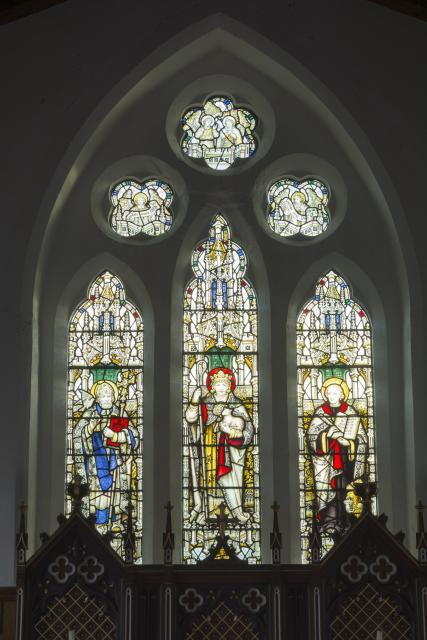 Christ the Good Shepherd with St David and St John