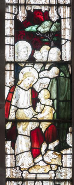 Christ Blessing Children Brought by their Mothers    detail from    The Crucifixion with Scenes from the Gospels