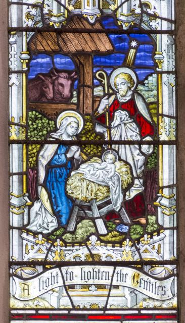 The Nativity    detail from    The Crucifixion with the Virgin Mary, St John and St Mary Magdalene