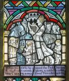 King David Playing the Harp with Musicians: St John the Evangelist and St David