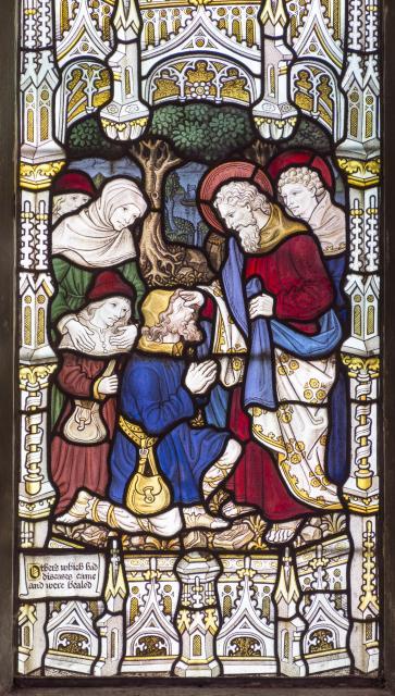 St Paul Healing the Sick    detail from    New Testament Saints