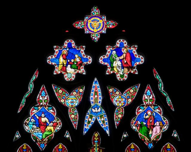 Tracery Lights    detail from    Christ with the Four Evangelists