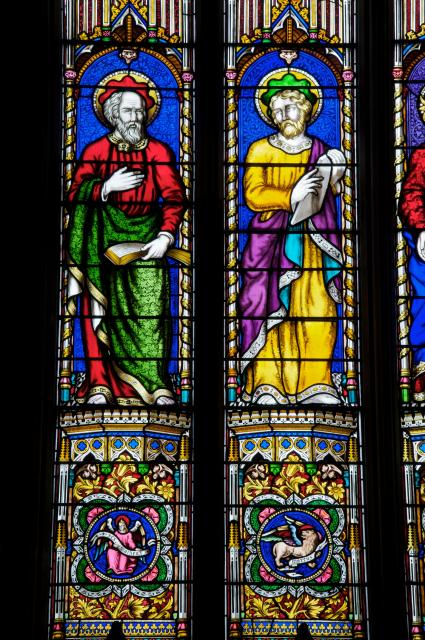 St Matthew and St Mark    detail from    Christ with the Four Evangelists