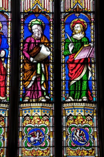 St Luke and St John    detail from    Christ with the Four Evangelists