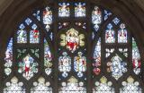 Tracery Lights: Virgin and Child with St Christopher and St Michael