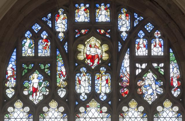 Tracery Lights    from    Virgin and Child with St Christopher and St Michael