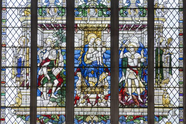 Virgin and Child with Saints    from    Virgin and Child with St Christopher and St Michael